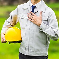 男性作業員の写真